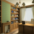 Classic interior. 3D render — Stock Photo #2605204