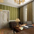 Classic interior. 3D render — Stockfoto