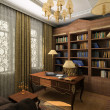 Classic interior. 3D render — Stock Photo #2605314