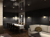 3D render interior of dining-room — Stock Photo