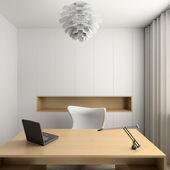 3D render modern interior of cabinet — Stock Photo