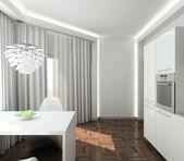 3D render modern interior of kitchen — Stock Photo