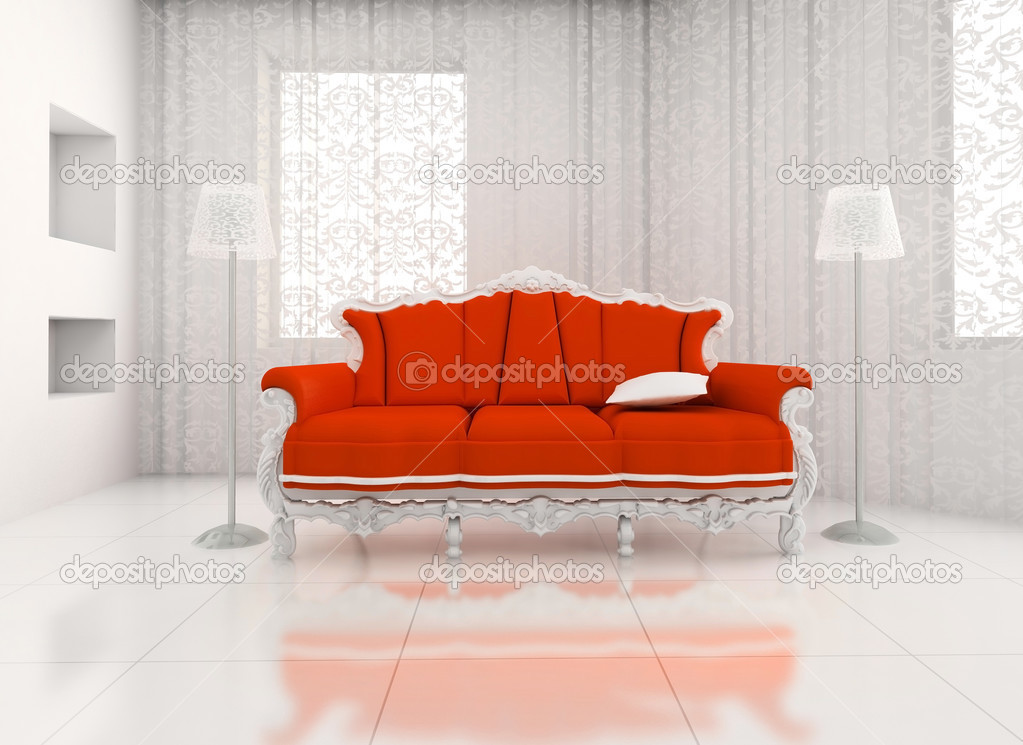 3D render. classic chair room in the big house. — Stock Photo #2605173
