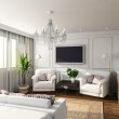 3D render modern interior of bedroom - Foto Stock