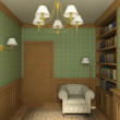 Classic interior. 3D render — Stock Photo #2619059