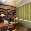 Classic interior. 3D render — Stock Photo #2619099