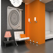 3D modern interior - Stock Photo