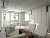 Interioir nowoczesny salon — Zdjęcie stockowe