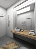 3D render modern interior of toilet — Stock Photo