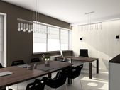 3D render modern interior of office — Stock Photo