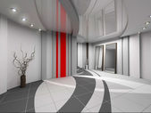3D render modern interior of hall — Stock Photo