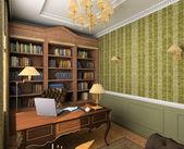 Classic interior. 3D render — Stock Photo