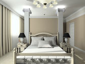 3D render modern interior of bedroom — Stock Photo