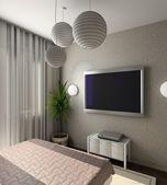 现代室内。3d 渲染 — 图库照片