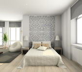 Modern interior. 3D render — Stock Photo