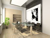 3d design of modern office. — Stock Photo