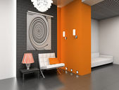 3D modern interior — Stock Photo