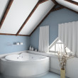 3D render interior of bathroom - 图库照片