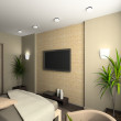 3D render interior of bedroom — Stockfoto