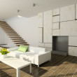 3D render modern interior of living-room — Stock Photo