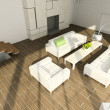 3D render modern interior of living-room — Stock Photo #2644758