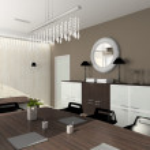 3D render modern interior of office — Stock Photo