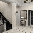 Hall with the classic stair - Stockfoto