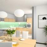 3D Interioir of modern kitchen — Stock Photo #2646602