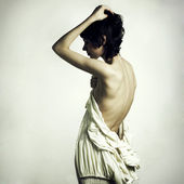 Elegant undress woman — Stock Photo