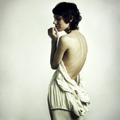 Undress elegant woman — Stock Photo