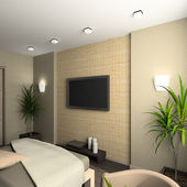 3D render interior of bedroom — Stock Photo