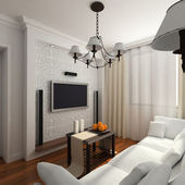 Living-room with the classic furniture — Stock Photo