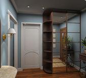 3D render interior of vestibule — Stock Photo