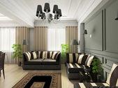 3d render klassiek interieur — Stockfoto