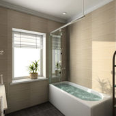 3D render modern interior of bathroom — Stock Photo