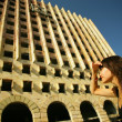 Young woman and architecture - Stock Photo
