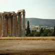 Temple of Zeus in Athens - Stock Photo