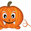 Pumpkin cartoon character — Stock Photo