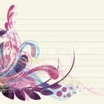 Floral background design patterns — Stock Photo