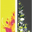 Beautiful two vertical floral bookmarks — Stock Photo #2408179