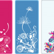 Beautiful vertical floral bookmarks — Stock Photo #2408261