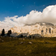 Sella mountain range panorama — Stock Photo