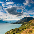 Stock Photo: Mountain scenery at lake pukaki