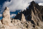 Rough cliffs in dolomite alps — Stock Photo