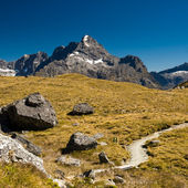 Mountains on routeburn track — Stock Photo