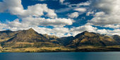 Mountains at lake pukaki — Stock Photo