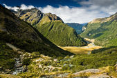 Routeburn valley — Stock Photo