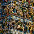 Crowded hindu temple - Stock Photo