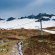 Moody mountains on belalp — Stock Photo