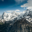 Stock Photo: Eiger Monch and Jungfrau